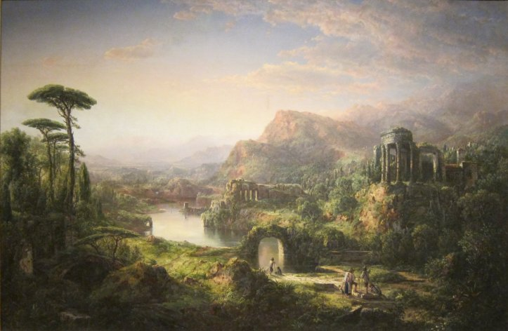 William Louis Sonntag Landscape with Temple Ruins